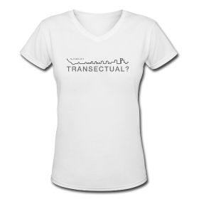 Is Your City Transectual? Women's V Neck Tee Short Sleeve   Black Graphic $23.49 Great urbanist slogan!