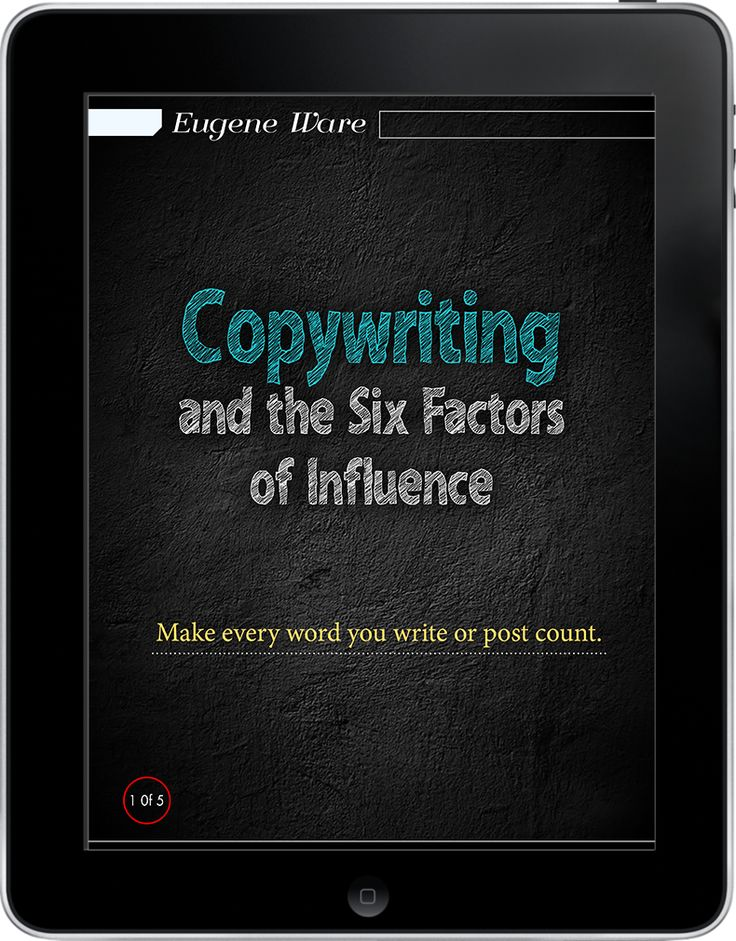 By understanding the six factors of influence, you can help your business maximize the effectiveness of its copy. Author Eugene have successes that include making $570,000 online in 37 minutes, and making $960,000 in 3 weeks, Eugene is certainly a man who understands the power of good copywriting.  More info: http://magazine.valuedmarketer.com/  iTunes: https://itunes.apple.com/us/app/valuedmarketer-magazine-become/id709724297?l=pl&ls=1&mt=8