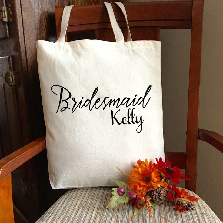 Personalized Bridal Gifts; Personalized Bridesmaid Tote Bag; Bridesmaid Tote Bag; Welcome Wedding Gifts; Wedding Party Tote Bag; Bridesmaid by PMWBoutique on Etsy https://www.etsy.com/listing/263265593/personalized-bridal-gifts-personalized