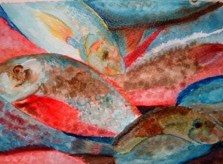 Una idea, mucho arte Acuarela sobre papel de 24 x 32 cm Autora  Lucía García López