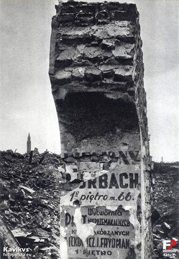 Warszawa, ulica Nalewki, maj 1945