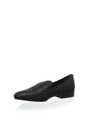80% OFF Dolce Vita Women's Calleigh Slip-On Loafer (Black Satin)
