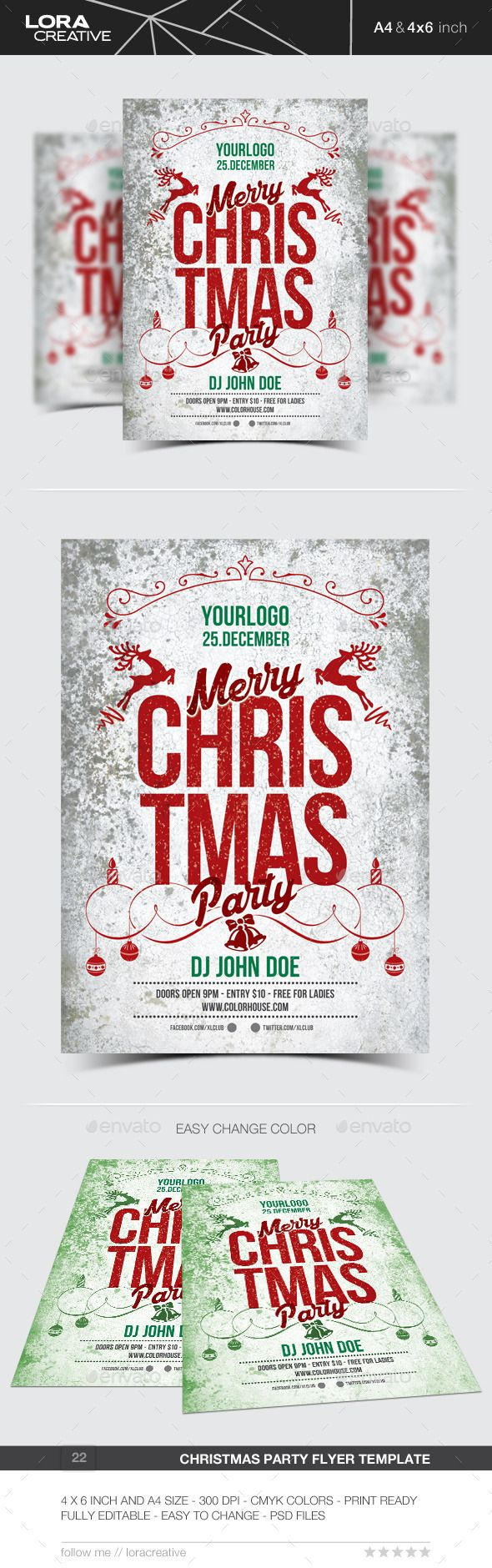 Free christmas poster design templates - Christmas Flyer Poster Invitation 22