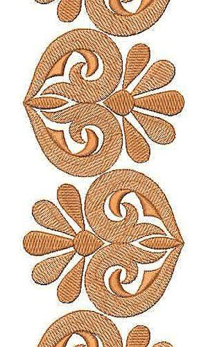 African Caftan Designer Border Embroidery Design