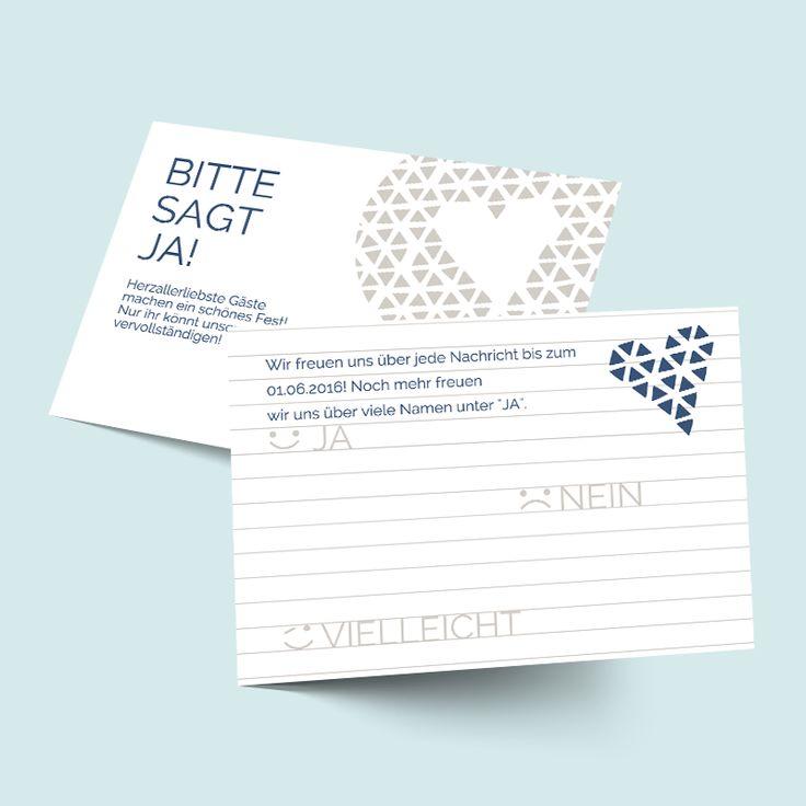 Tipps U0026 Ideen   Antwortkarten Zur Hochzeit: Herzallerliebst