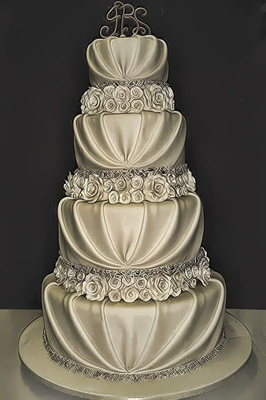 Amazing wedding cake!! Wow that is the most beautiful, most excellent wedding cake ever!! Brilliant!