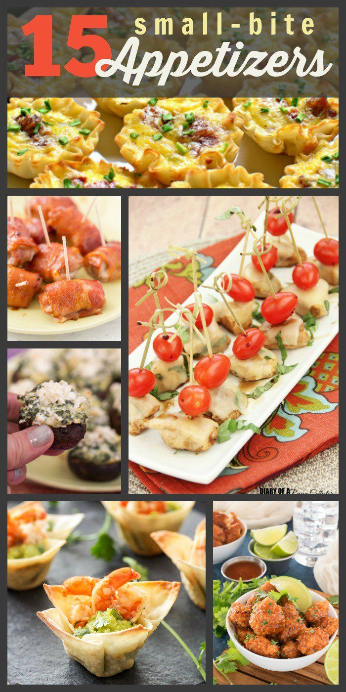 15 Small Bite Mini Appetizers for Your Next Party!