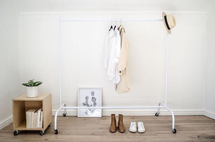 Our #white contemporary rail.  -- #monoshopza #clothingrail #decor #storage #contemporary #minimal #scandinavian