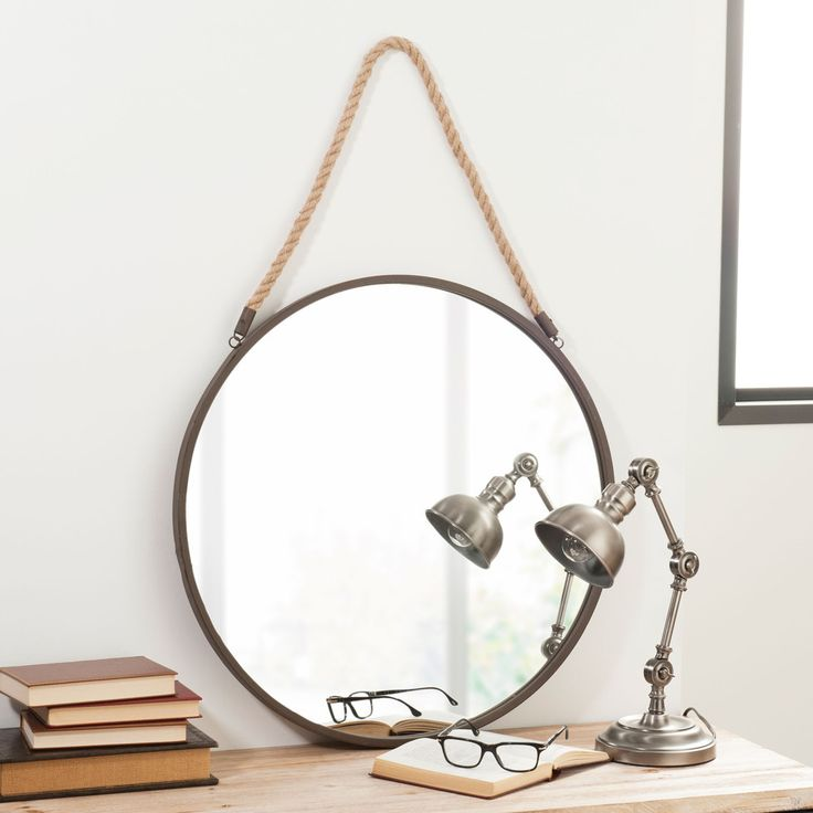 Miroir en métal D 60 cm BLAKE RUSTY