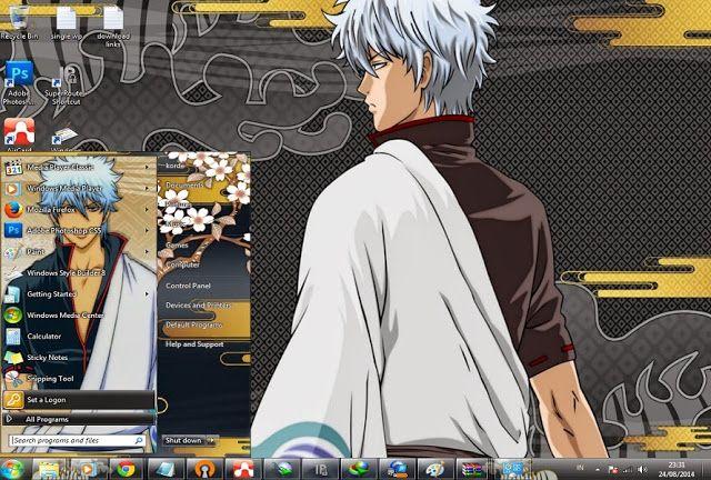 Gintama Free Download themes windows // Tema //7 //seven// 肌//テーマ//画題//窓//ウィンドウ//七つ//skin// Gintama // Gintoki sakata