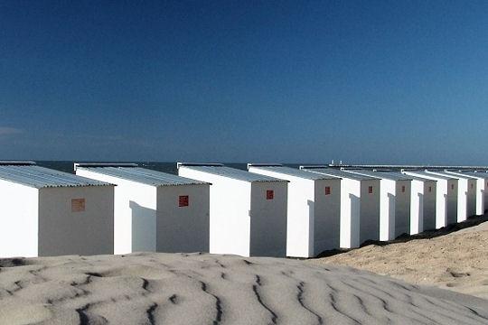 La plage de Koksijde. Belgique. Juin 2005