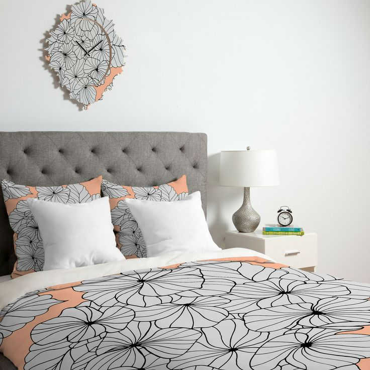 home design bedding. Gabi Hydrangea Peach Duvet Cover 536 best Deny Covers images on Pinterest  covers