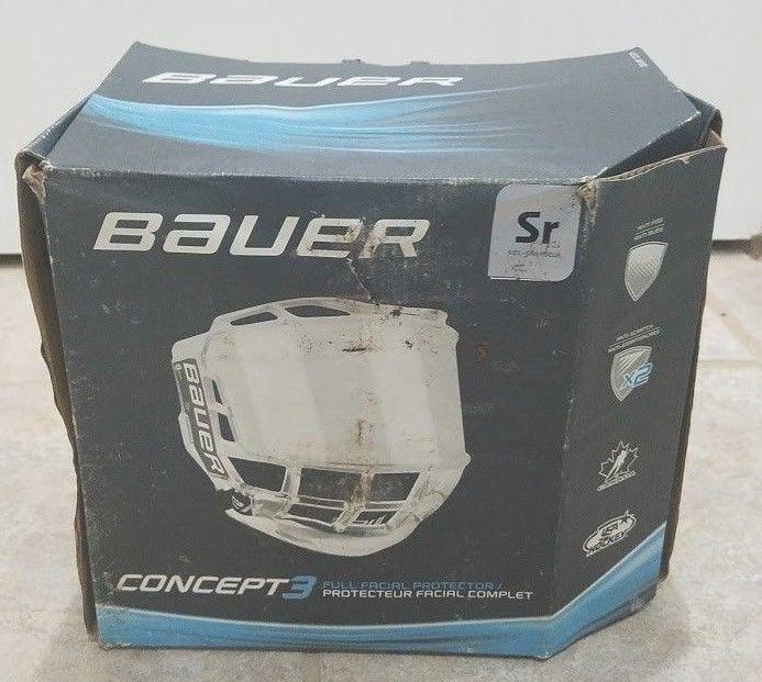 Bauer Concept 3 Full Shield Sr Barely Used Bauer Hockey Helmet Helmet Visor Ebay