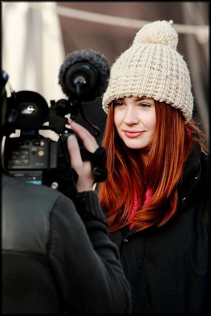 Karen Gillan (Amy Pond) Filming Dr Who Confidential in Charlestown by Beccy Melling, via Flickr