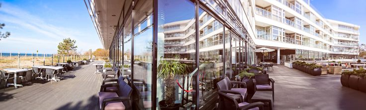 Panoramic picture of the architectural ship @ Dune Restaurant Cafe Lounge in Mielno, Poland