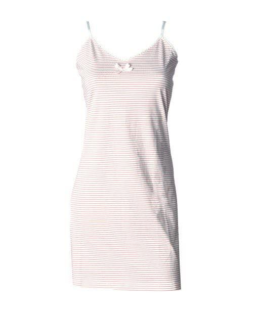 Dieses Damennachthemd in rosa/weiß gestreift von der Firma Louis und Louisa ist einfach zauberhaft. Der feine Spitzenrand und die kleine Schleife zeigen die Liebe zum Detail die in jedem Louis und Louisa Artikel steckt. Das Nachthemd ist aus leichter Baumwolle hergestellt, in Kombination mit den schmalen Trägern ideal für den Sommer.  Maschinenwaschbar bei 30°.  Louis und Louisa ist ein Trendlabel in Sachen Nachtwäsche, Shirts und Unterwäsche.