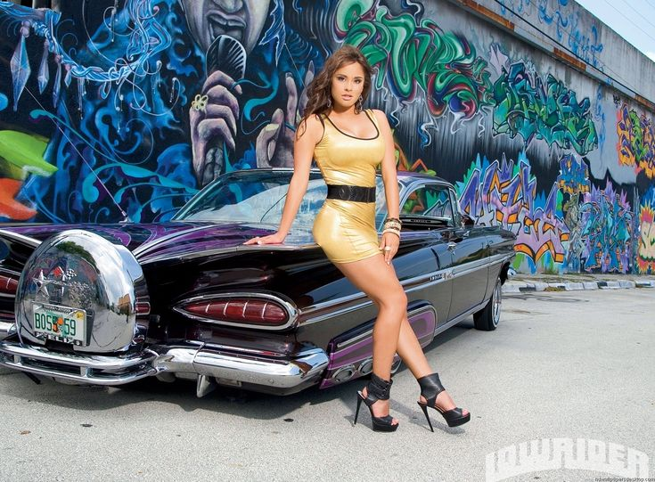 Lowriders truck with sexy girls