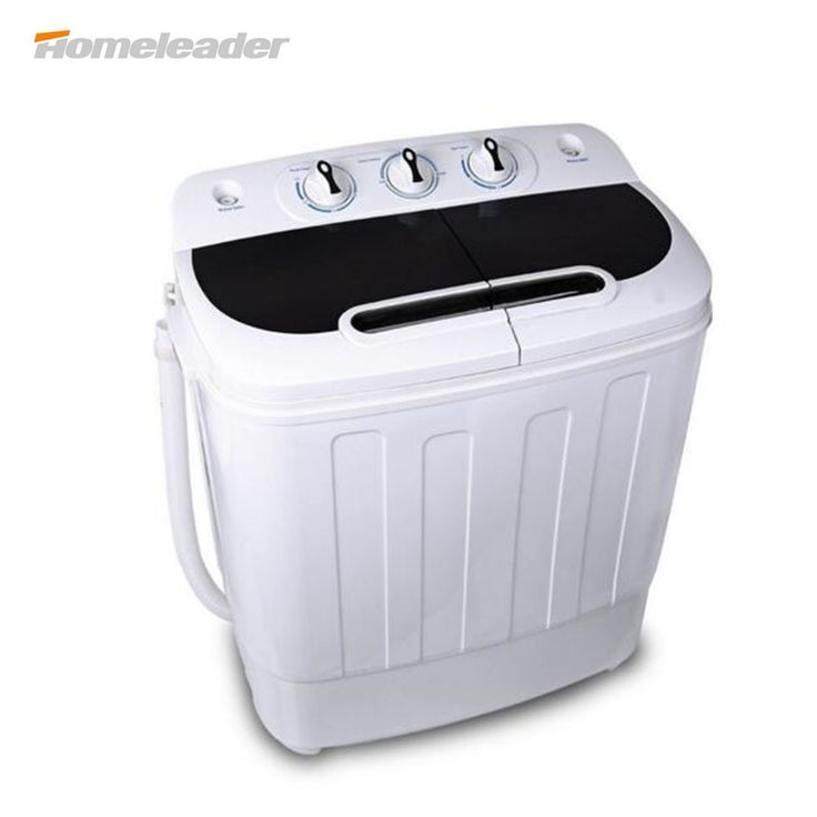 Homeleader W02-014 Washing Machine, Portable and Compact Laundry Washer with 7.93lbs Capacity, Double Drums
