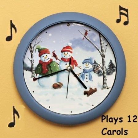 Amazon.com: Singing Snowman Christmas Clock: Home & Kitchen