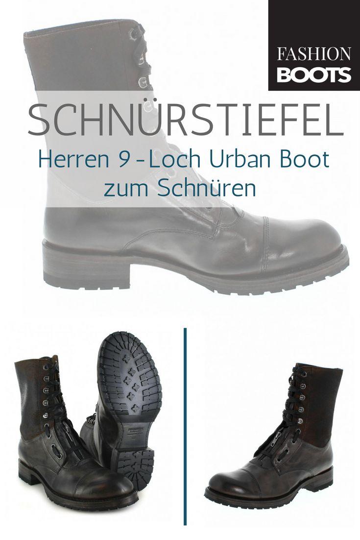 Sendra Boots 12334 Grigio Urban Boot Schnürstiefel - grau | Trendiger Herren 9-Loch Urban Boot zum Schnüren