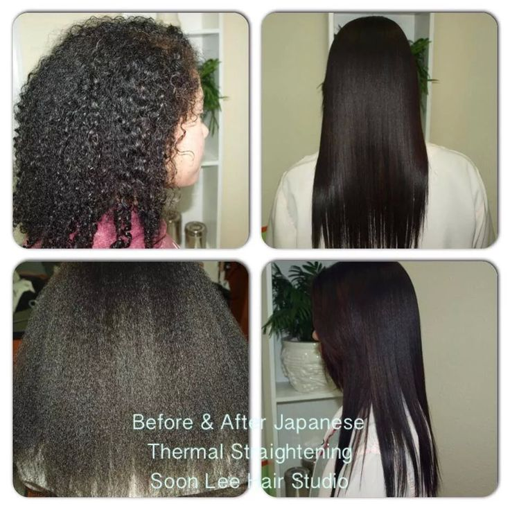 Before and After Japanese Thermal Straightening http://soonleehairstudio.com
