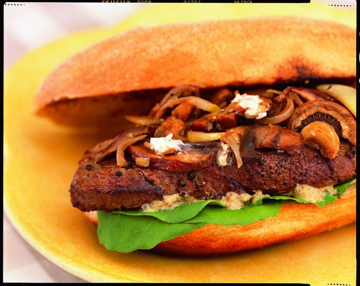 Beef Steak Sandwich with Balsamic Mushrooms and Chèvre | Canadian Beef
