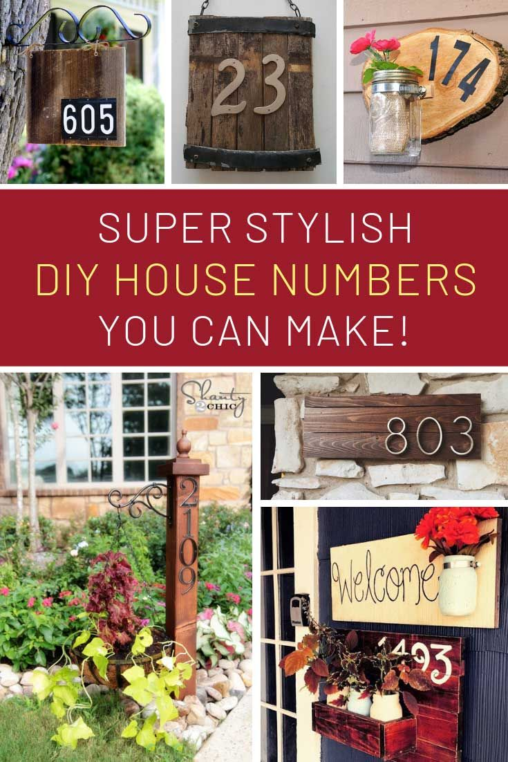 26 Gorgeous Diy House Number Signs You Need To See House Numbers
