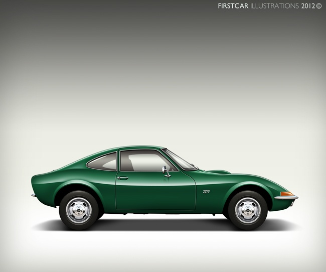 1970 - OPEL GT - firstcar illustrations