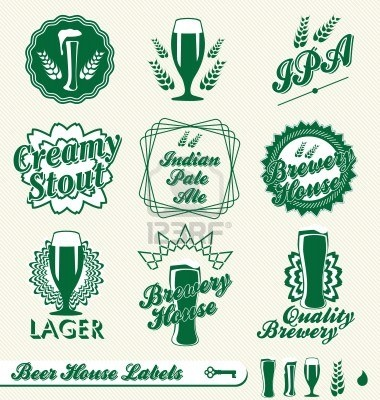 Vector Set: Brewery House Beer Labels Stock Photo - 14641301