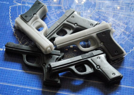 Gun Soap x 6  Gun Pistol Police Officer Father's Day by NerdySoap