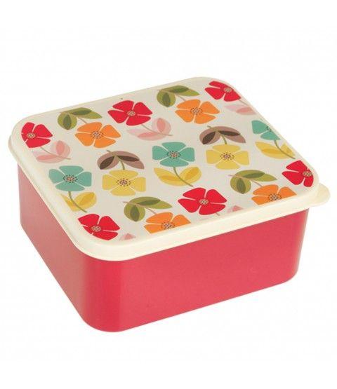 """Wendekreis Lunchbox """"Mid Century Poppy"""" Brotbox Frühstücksbox Box Kinder  - 2-flowerpower"""