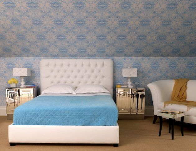 Best 25+ Wallpaper headboard ideas on Pinterest | Bedroom with wallpaper headboard, Next ...