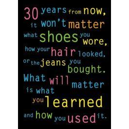 30 Years Poster | School Displays