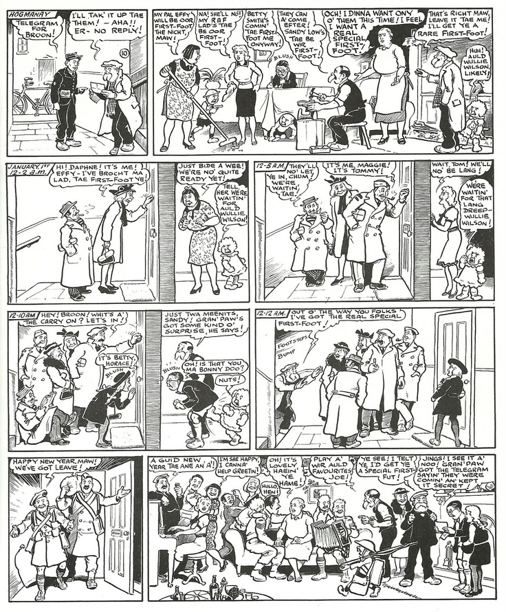 """""""The Broons"""" by Dudley D. Watkins (1936)"""