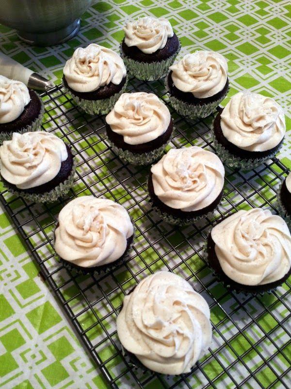 The Tiny Tyrant's Kitchen: Chocolate RumChata Cupcakes