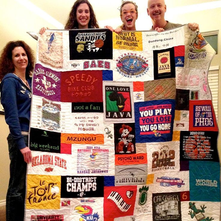 128 best Too Cool T-shirt Quilts images on Pinterest   Colleges ... : too cool tshirt quilt - Adamdwight.com