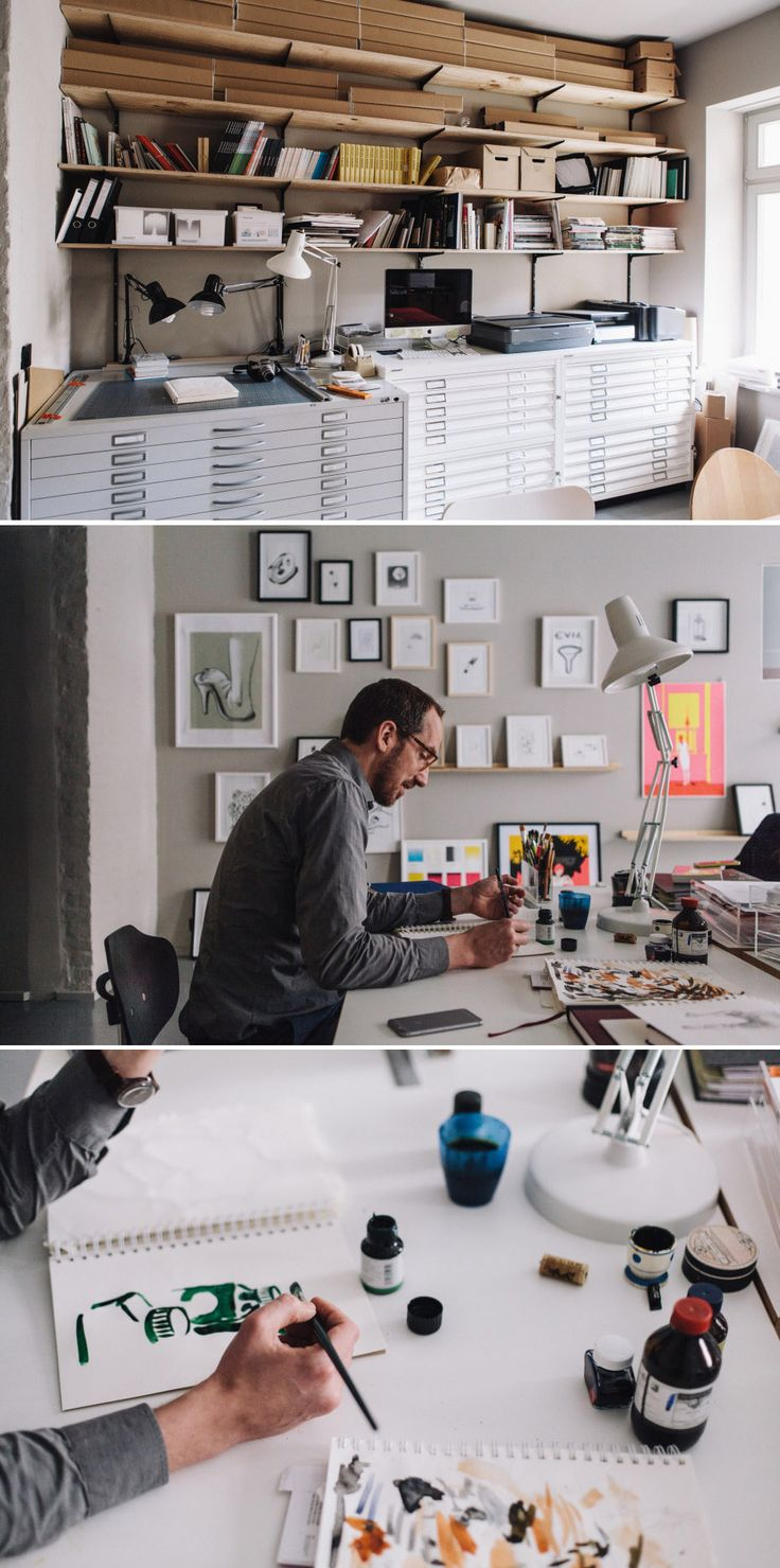 Christoph Niemann - Illustrator, Studio, Mitte, Berlin http://www.freundevonfreunden.com/workplaces/christoph-niemann/