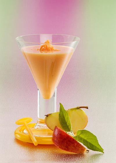 Rezept für einen Buttermilch-Shake mit Apfel und Karotte -  Leckere Buttermilch-Diät-Shakes