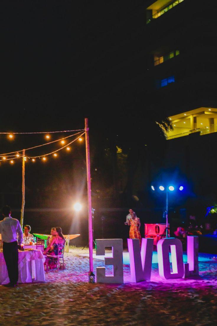Decoración para matrimonio en la playa