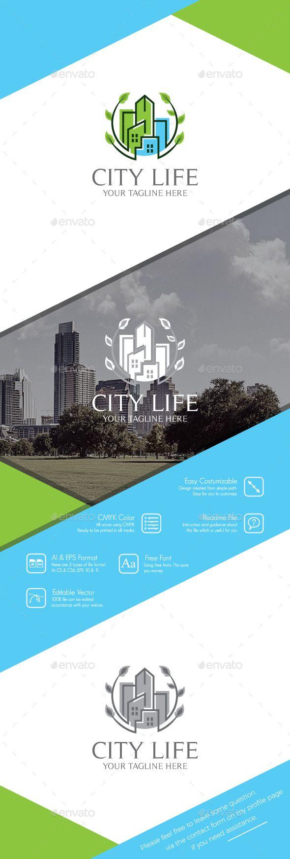 City Life Logo  — EPS Template #housing #logo • Download ➝ https://graphicriver.net/item/city-life-logo/18453242?ref=pxcr