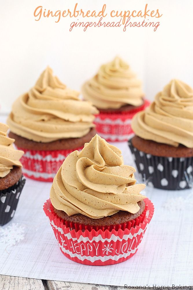 flavorful gingerbread cupcakes topped with a sweet molasses and ginger ...