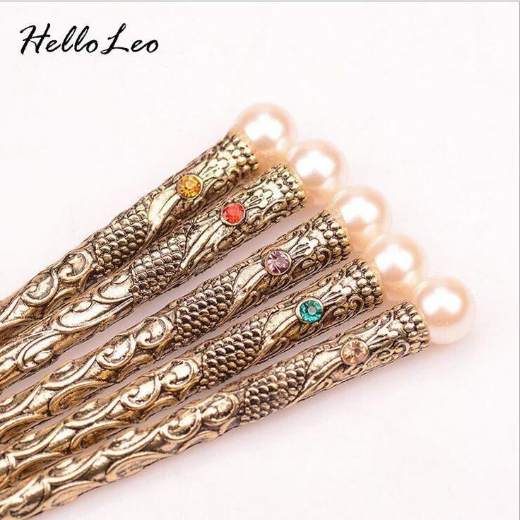 2016 Retro Nature peals simple Hair stick Bob Handmade vintage Women jewelry Chinese hair stick Gift