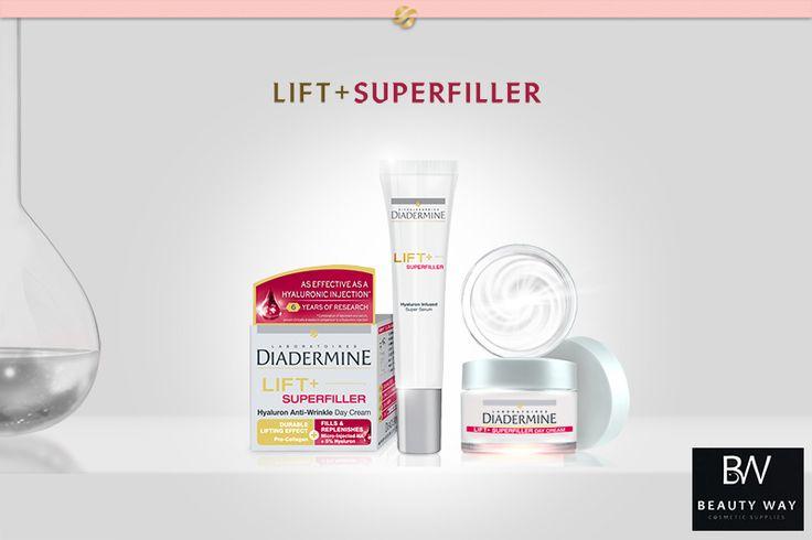 Super Serum και Κρέμα Ημέρας της νέας σειράς Lift+ Superfiller της Diadermine! Τόσο αποτελεσματικά, όσο και μια ένεση Υαλουρονικού Οξέος! #Diadermine #BeautyWay