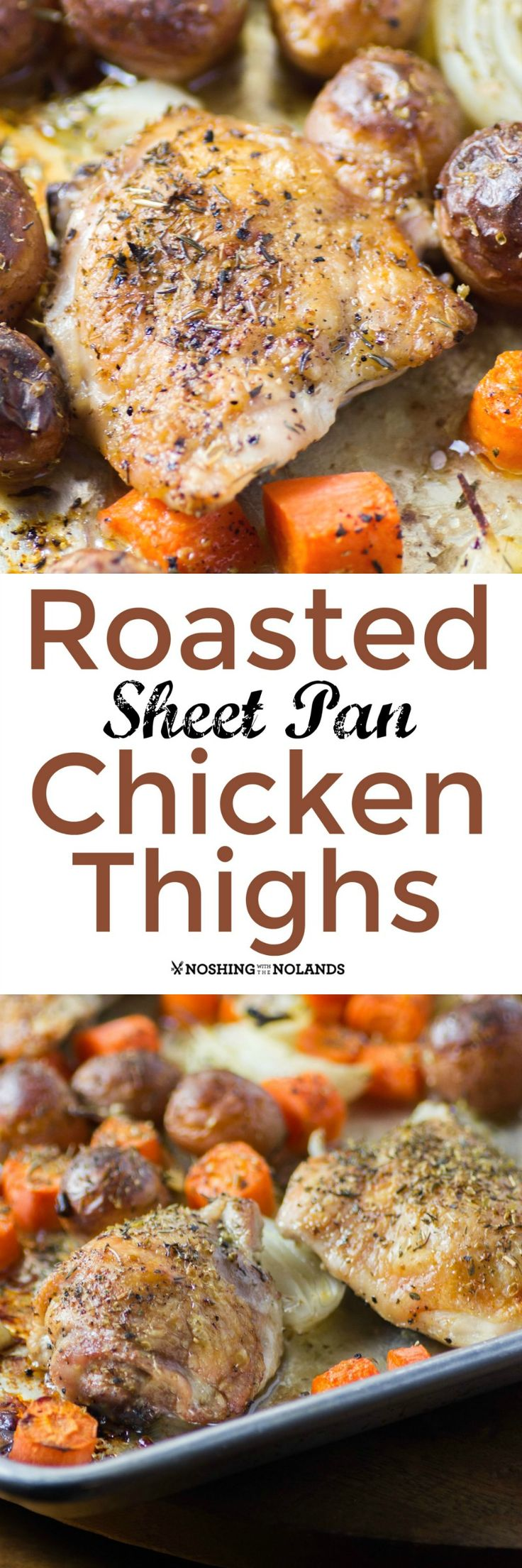 Roasted Sheet Pan Chicken Thighs is an easy meal to prepare and even easier to clean up. You'll be making it again and again!