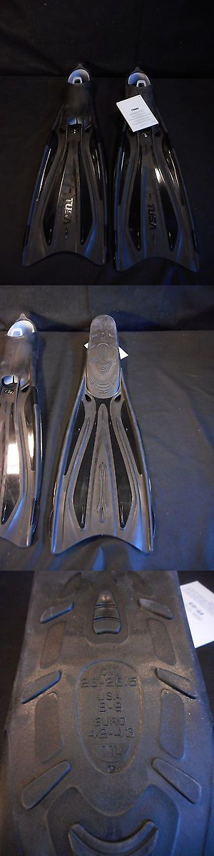Fins 16054: Tusa Solla Full Foot Scuba Diving Snorkeling Fins - Black - 8 9 - Medium Large -> BUY IT NOW ONLY: $50.22 on eBay!