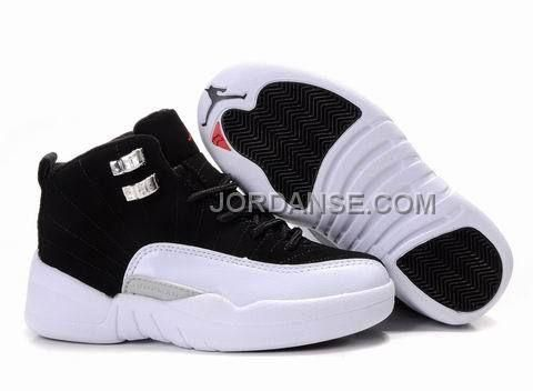 Kids Air Jordan 12 White Black, Price: - Air Jordan Shoes, New Jordan Shoes,  Michael Jordan Shoes