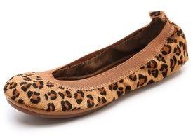 Yosi Samra Leopard Elastic Top Line Ballet Flats on shopstyle.com