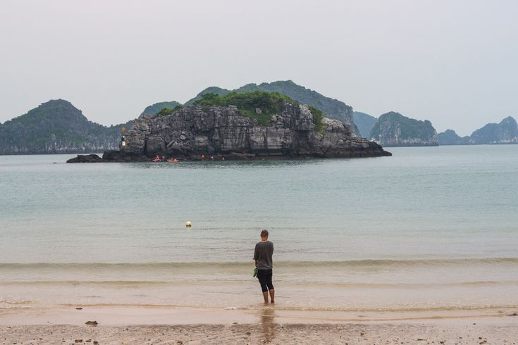 Cat Co 2 beach on Cat Ba Island is just one of the many beautiful sights to take in when traveling through Vietnam. #travel #vietnam #beach #island #gosquab