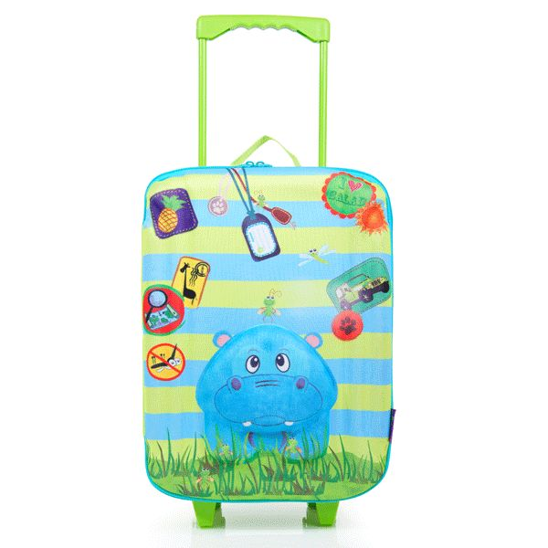 Okiedog Hippo Trolley Bag - Hippylicious!  now available at www.schoolbags.com.au