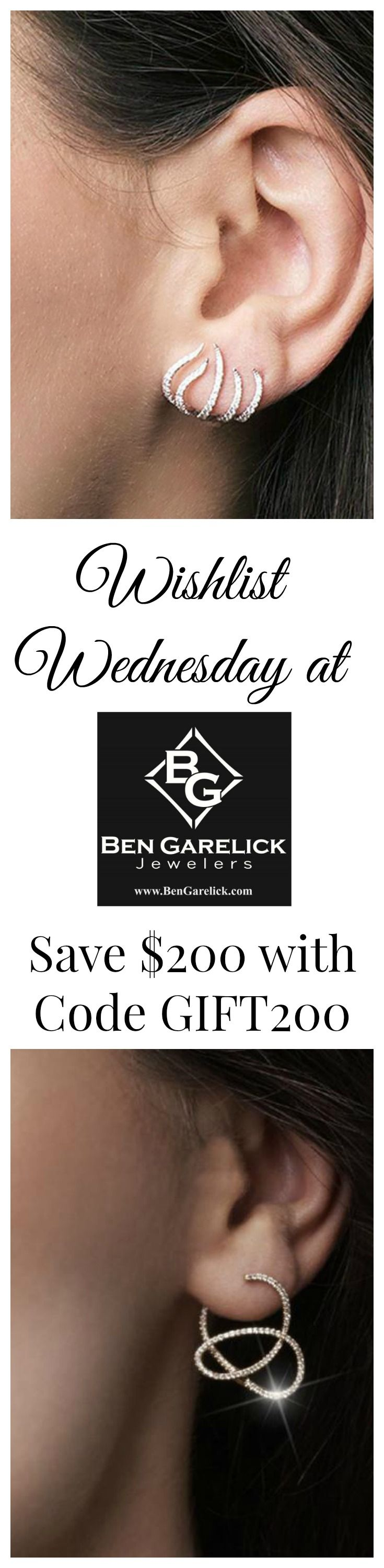 Wishlist Wednesday! Which pair of Diamond Gabriel Earrings makes your list? Save $200 off your choice with code GIFT200 through December 31, 2016. #BenGarelick #GabrielRetailer #Sparkleobsession